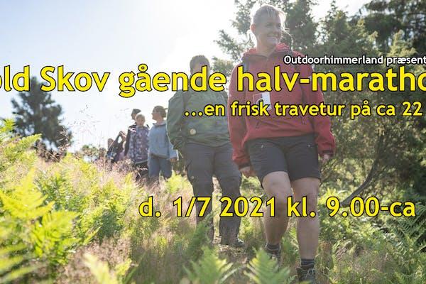 Rold Skov gående halv-marathon… ca 22 km.
