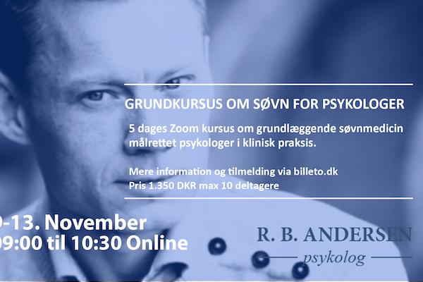Grundkursus om søvn for psykologer