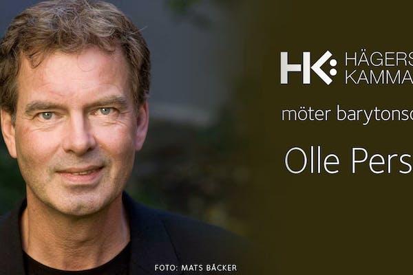 Hägerstens kammarkör möter barytonsolisten Olle Persson