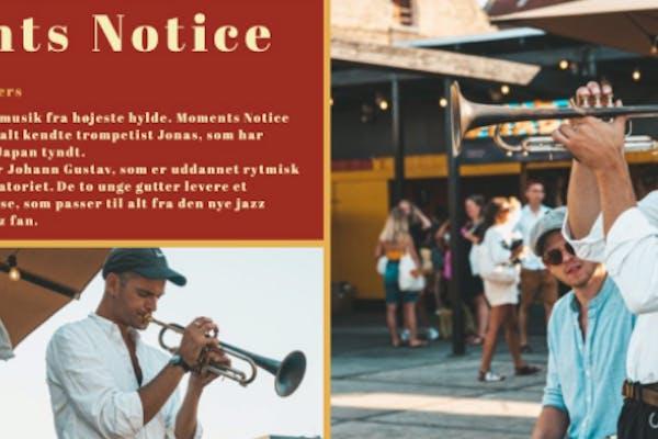 Jazzkoncert Moments Notice inkl. frokostbuffet