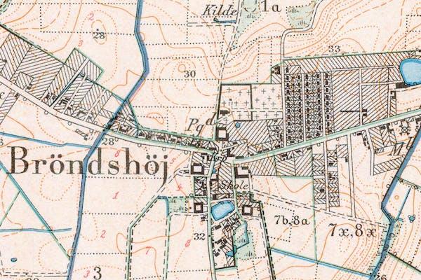 Lokale historiske landkort fra Brønshøj