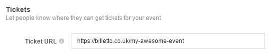 How to promote an event: Facebook ticket link