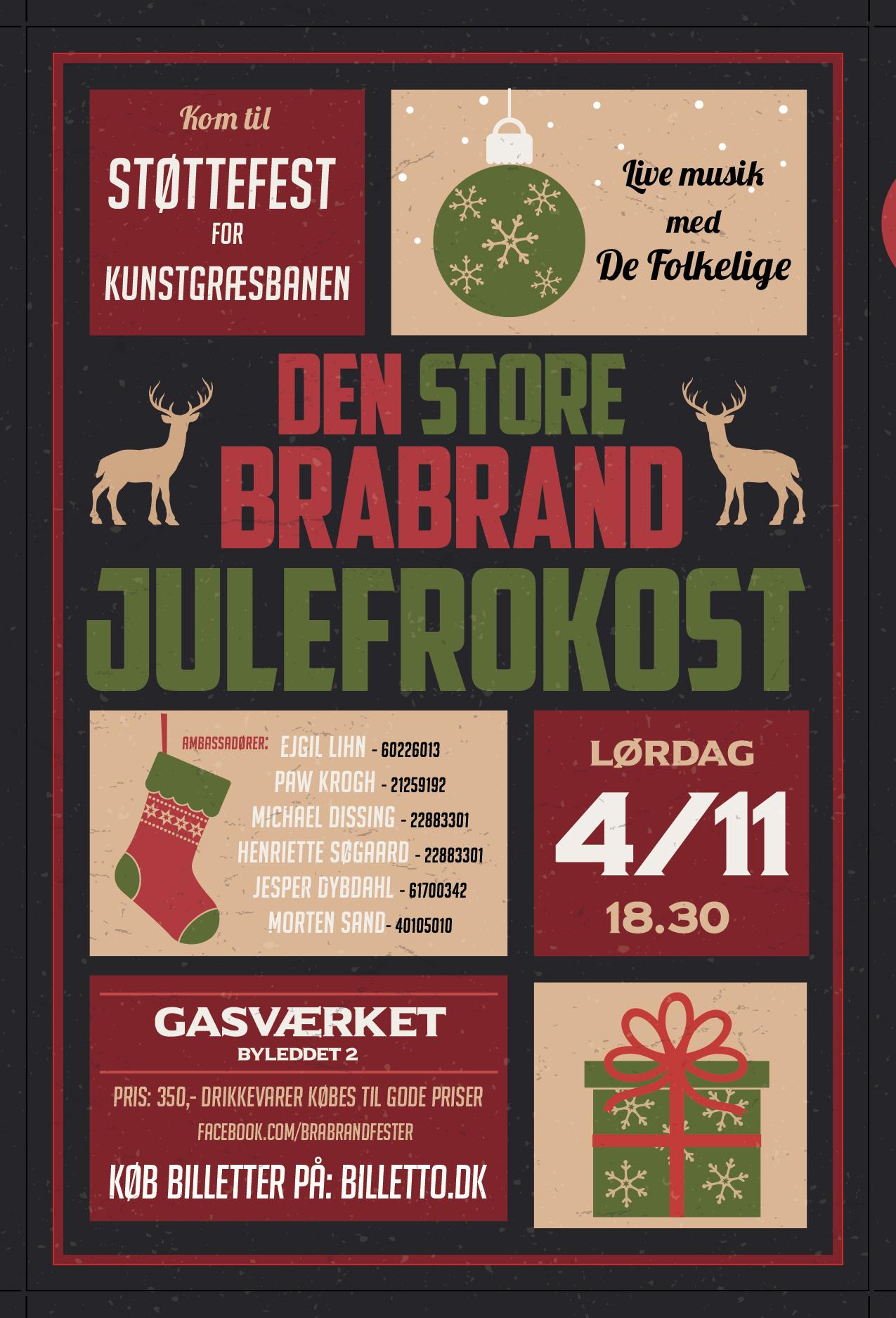 Den Store Brabrand Julefrokost 2017 / Kunstgræs-støttefest.