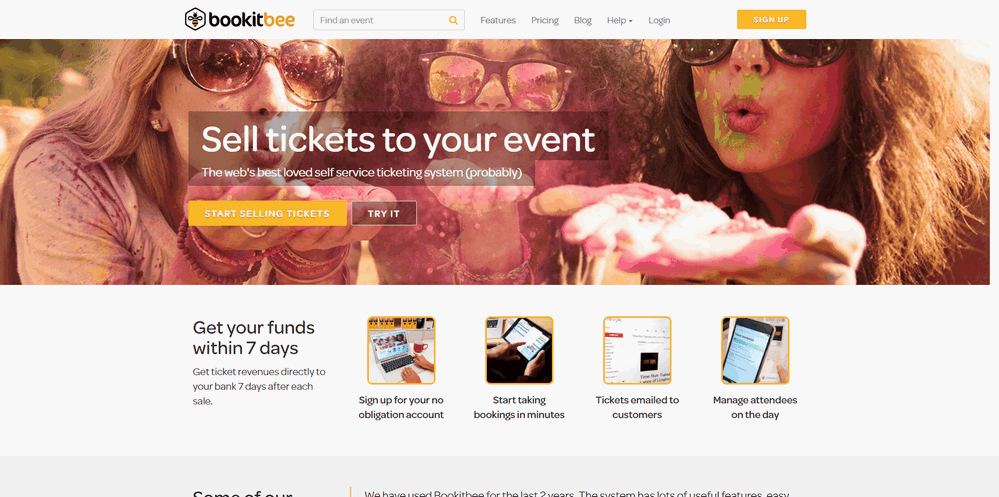Event listing sites: Bookitbee