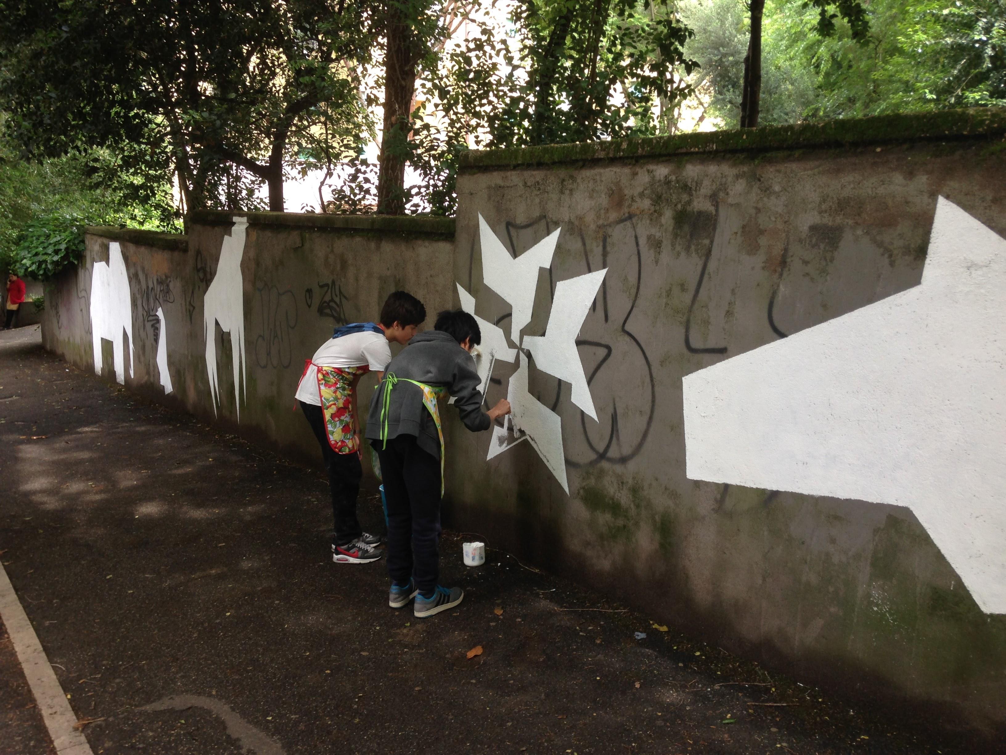 wall esterno junior street art